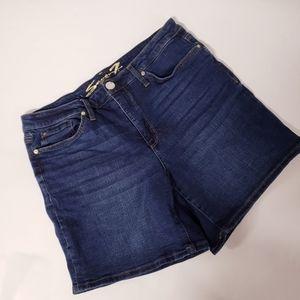 4/$30 SEVEN7 Jean Weekend Shorts Size 14